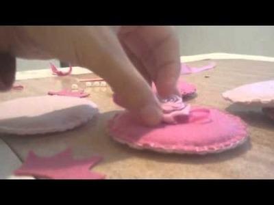 Mobile de Feltro para quarto de bebê Menina #DIY Dica de decorar gastando pouco, #tutorial