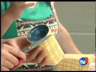 """Papelão & Cia (Artesanato Passo a passo """"ensinando a fazer um porta objeto de papelão reciclado"""")"""