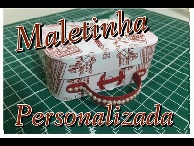 DIY | Como fazer Maletinha De papel - lembrancinha personalizada - Passo a passo
