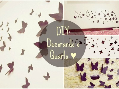 DIY: Decore seu quarto (Fácil) | Room Decoration