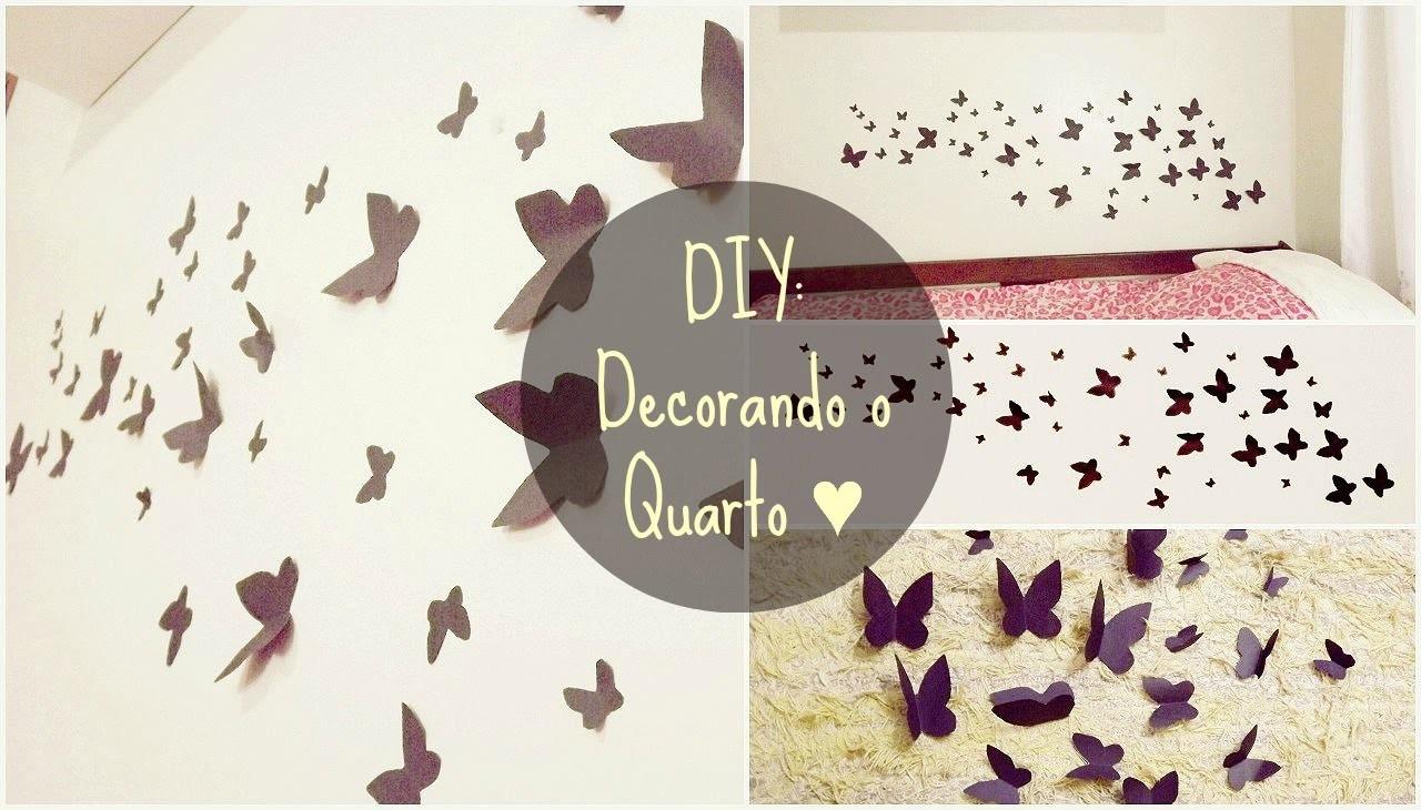 DIY: Decore seu quarto (Fácil) | Room Decoration