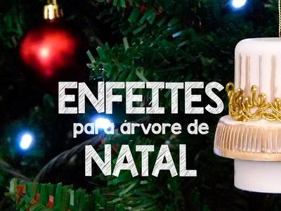 DIY:: ENFEITES DE NATAL COM TAMPAS DE PLÁSTICO