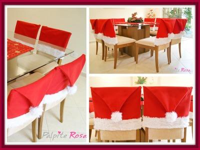 DIY - Touca de Natal para Cadeira