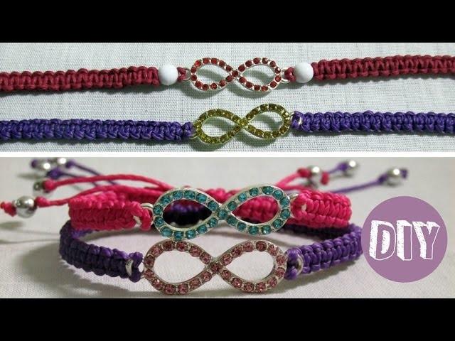 DIY 9# Pulseira da amizade macramê com pingente | Friendship Bracelet