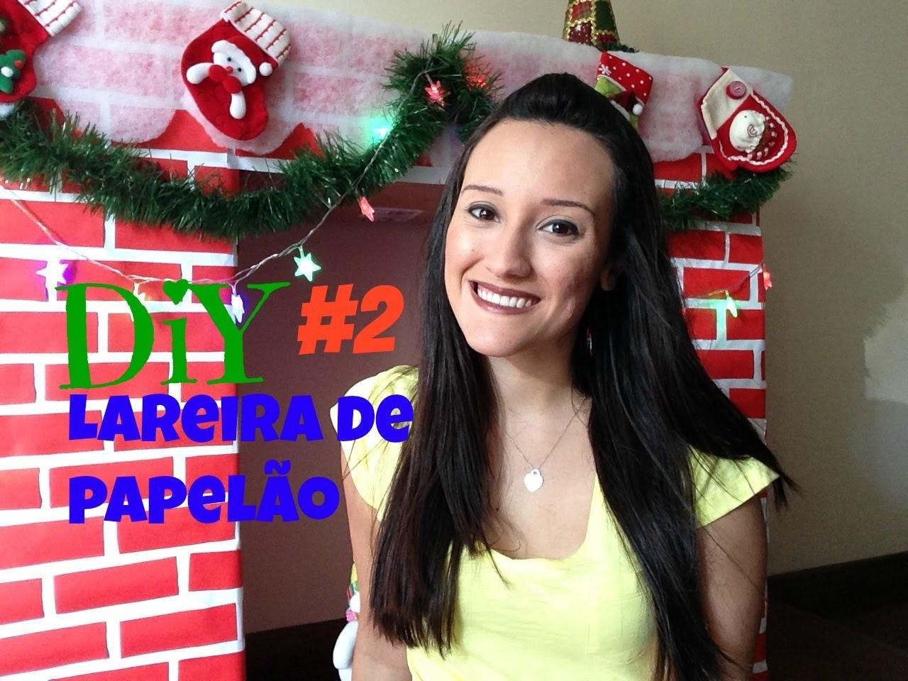 DIY de Natal #2 | Lareira de papelão!