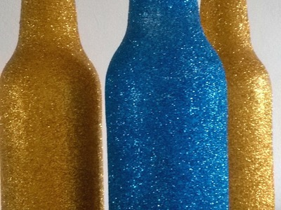 DIY Garrafinhas decoradas com glitter