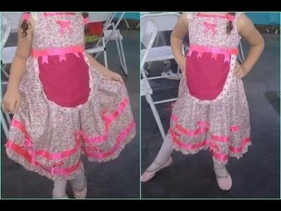 DIY:Vestido de festa junina improvisado rápido