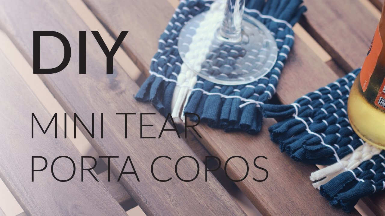 DIY - Mini tear - Porta copos