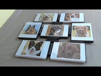 DIY  Painel de fotografias reciclando capas de DVDs e rolinhos de bobina do cupom fiscal