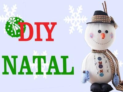 Faça você mesmo : DIY de Natal - Boneco de Neve e Globo de Neve