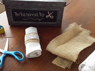 Porta guardanapo rústico | DIY - Como fazer porta guardanapos