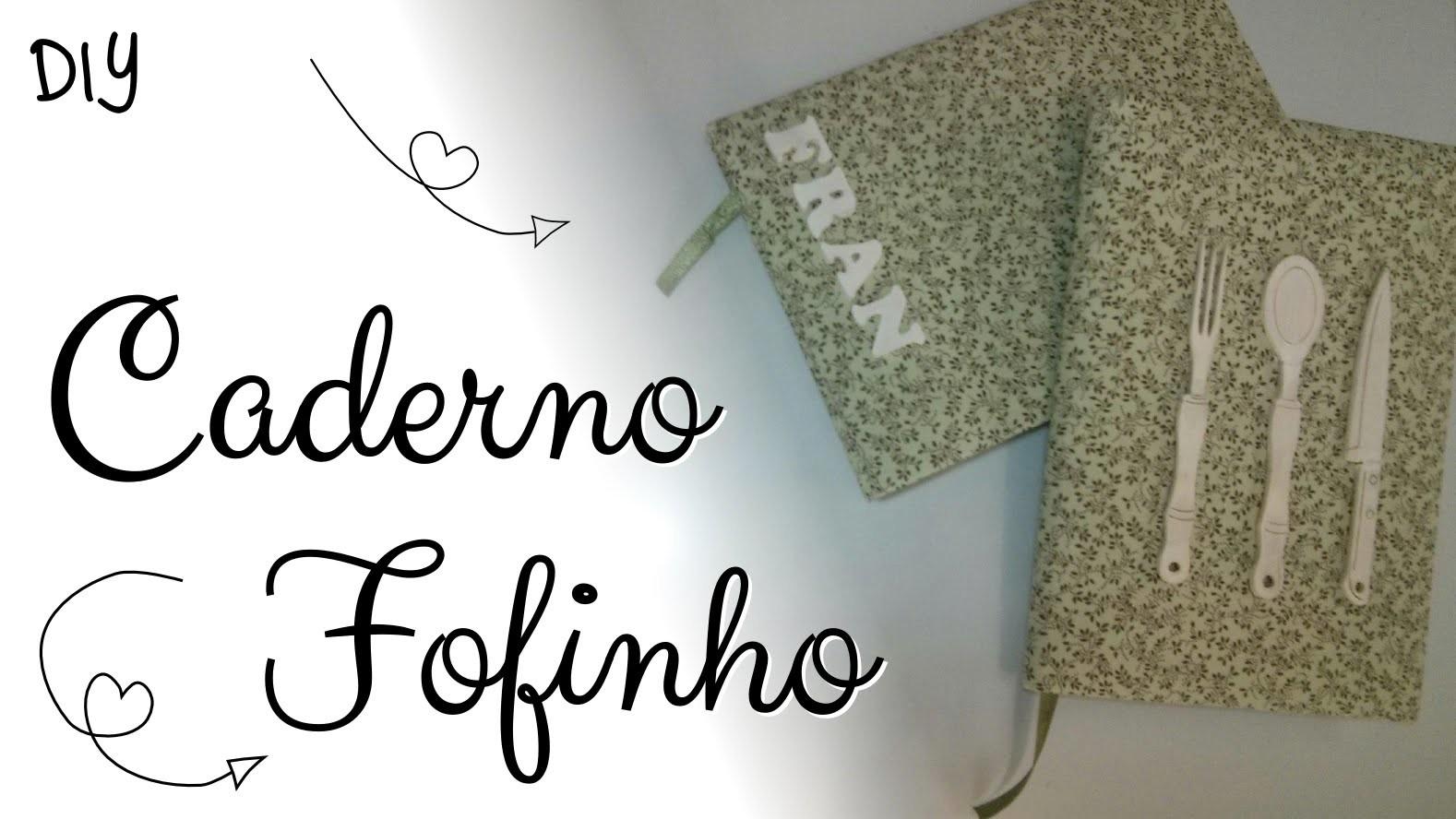Caderno de tecido fofinho - DIY - Faça você mesmo