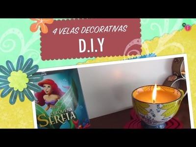 DIY: 4 Velas Decorativas e Aromáticas