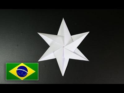 Origami: Estrela de 6 pontas - Tutorial com voz PT BR