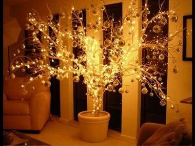 DIY - Árvore de Natal Iluminada com Galho Seco - Especial #FestasComAJu