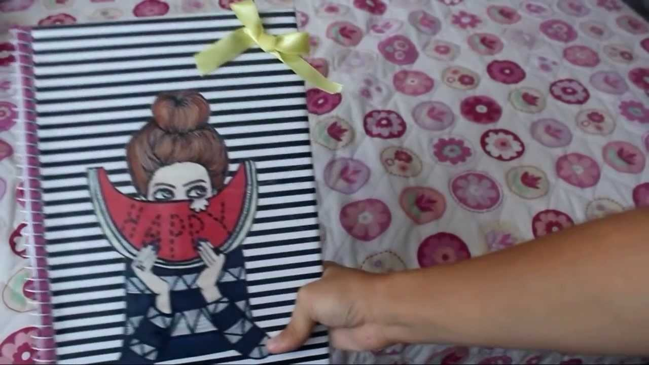 DIY Cadernos customizados (R$4,00 cada caderno)