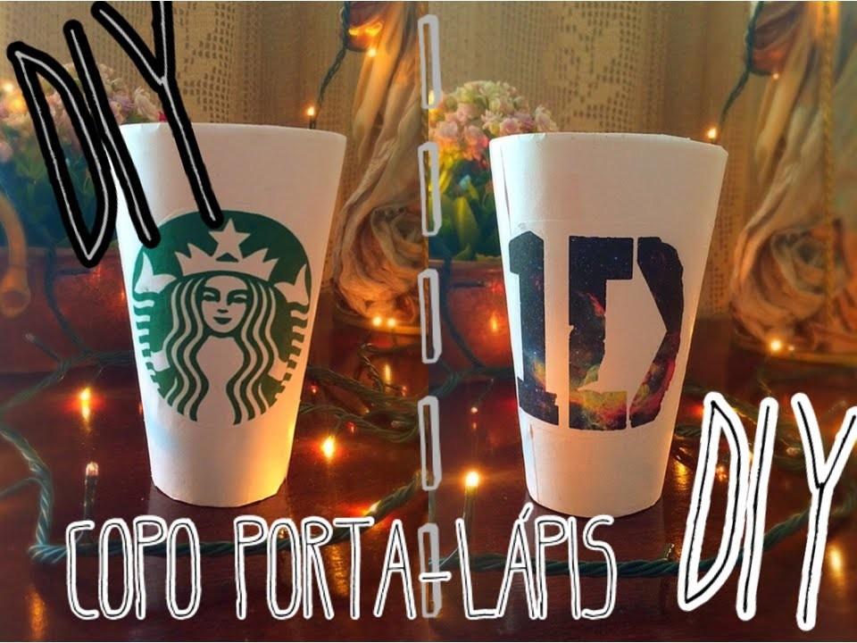 DIY - Copo da Starbucks e 1D