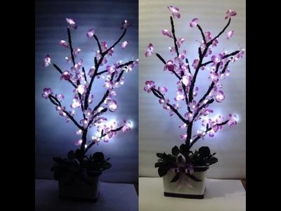 DIY : Luminária flor de cerejeira. Árvore com luzes (imaginarium inspired )