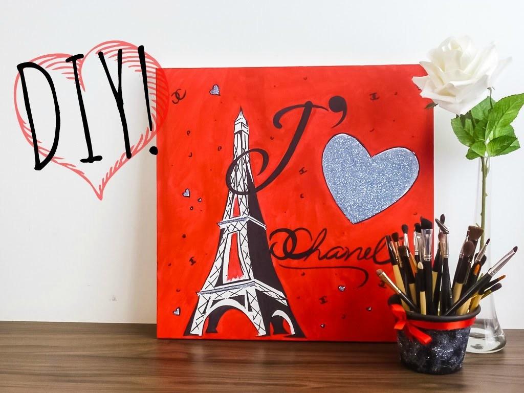 DIY: Quadro J' ❤ Chanel