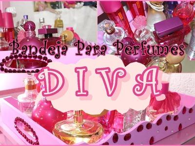 Bandeja Para Perfumes Rosa Com Pedras - Diva| Diy ❤