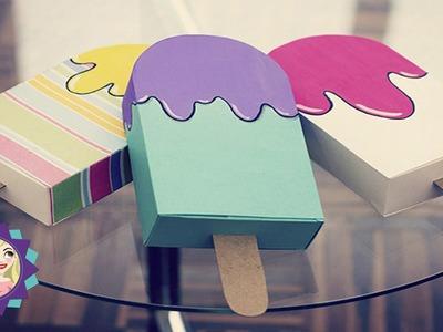 DiY Caixa em forma de Picolé- Faça você mesmo lembrancinha para aniversário|Tatiane Xavier