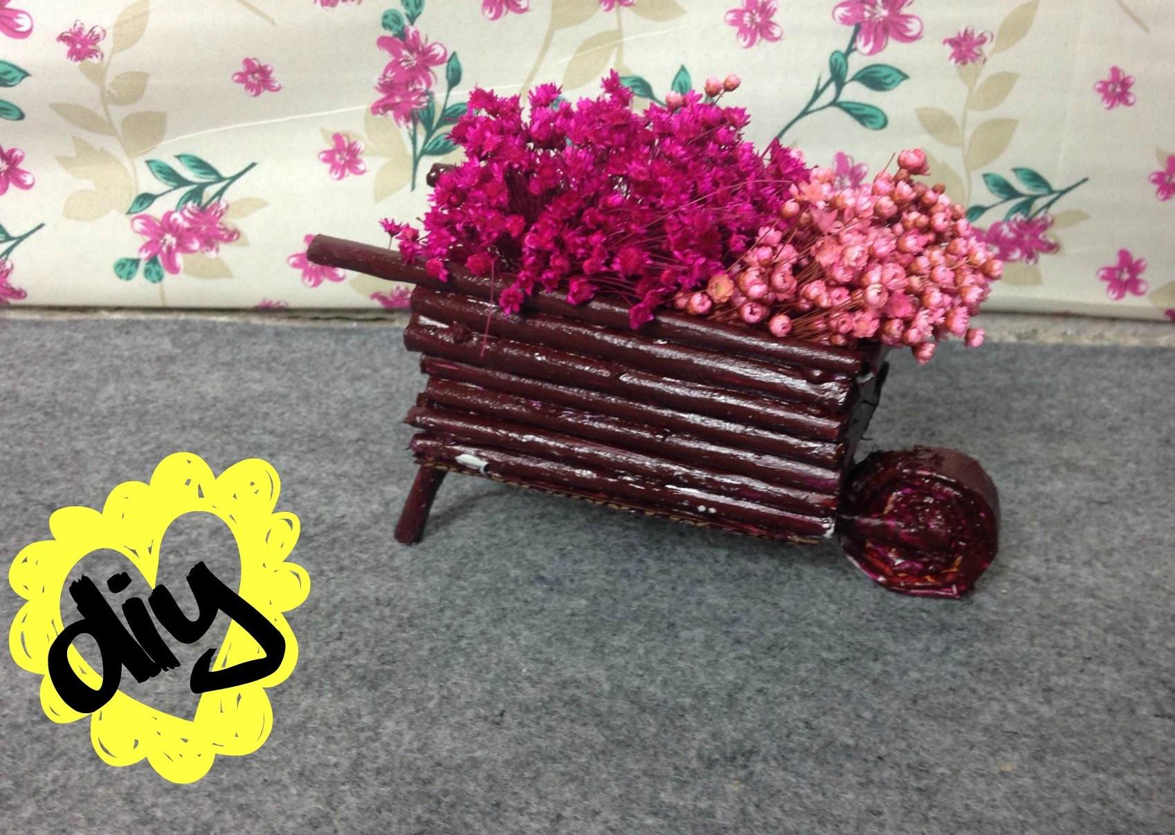 DIY: CARRINHO DE FLORES (decoração fácil)