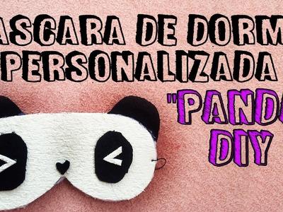 "DIY: Como Fazer máscara de Dormir de ""Panda"". Máscara de dormir Personalizada. Feito com EVA"