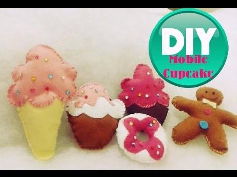 DIY-Cupcake mobile- Faça você mesma