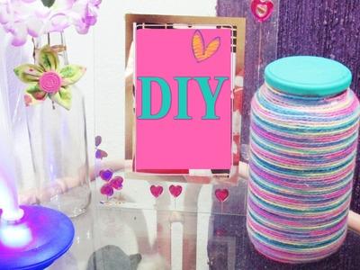 DIY.Faça você mesma: Vidro de azeitona decorado | decorated pot