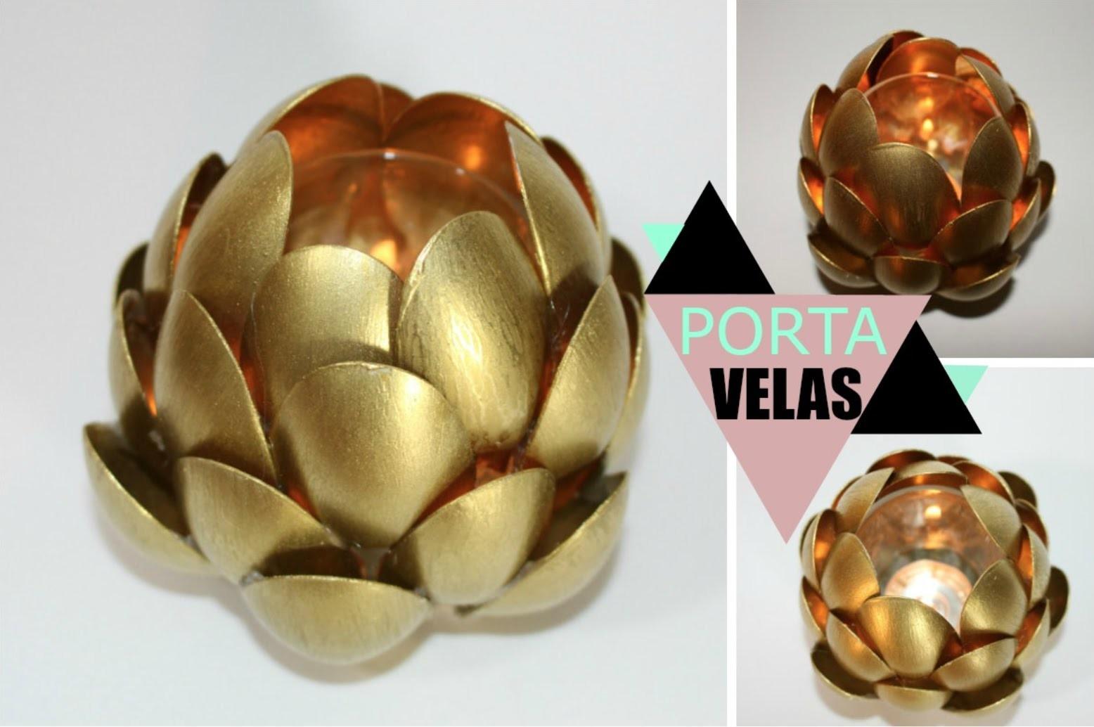 DIY: PORTA VELAS ♥ Tatiane Vita