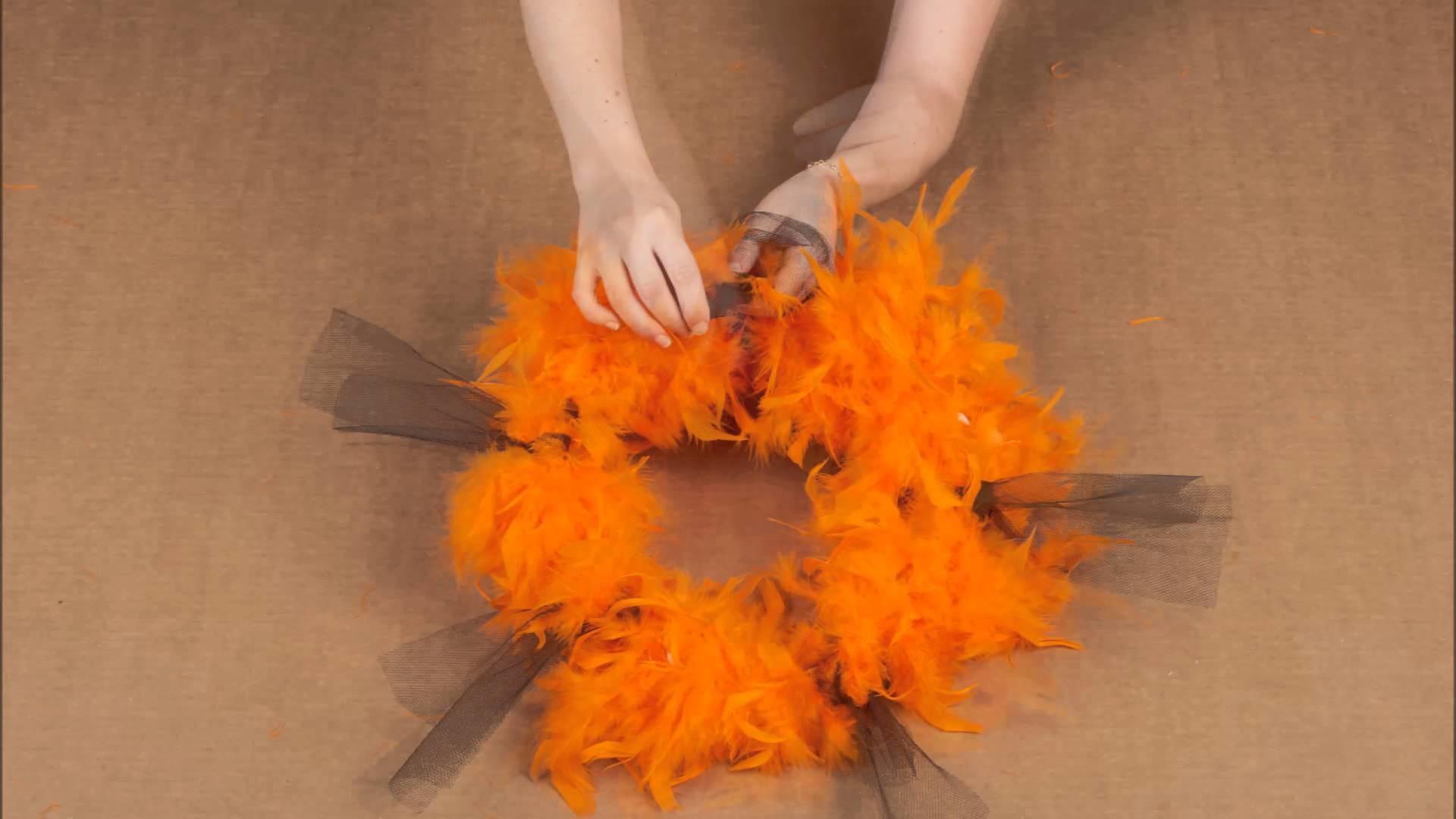 Tuto DIY 2. Decoração halloween tema laranja