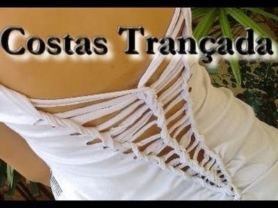 Customização - DIY: Camisetas trançada nas costas