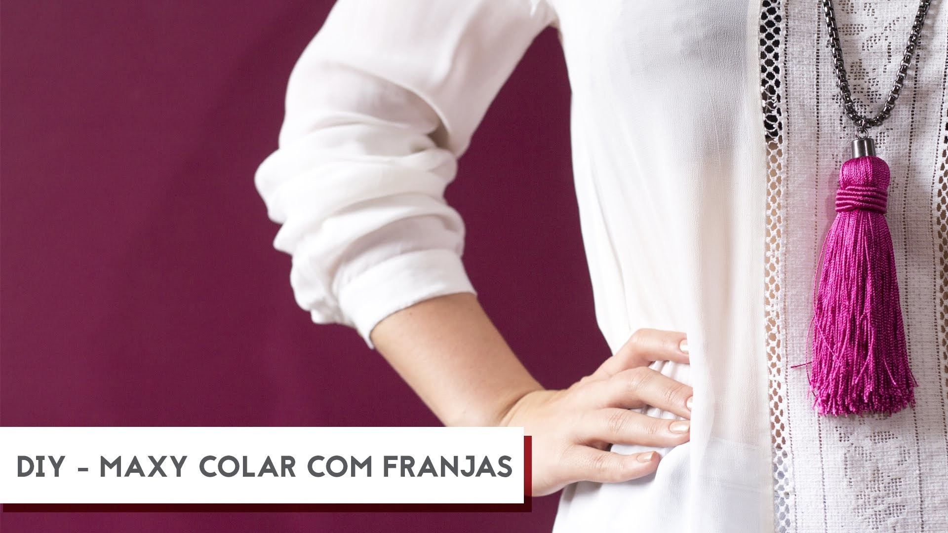 DIY - Maxi Colar de Franjas| Drops das Dez