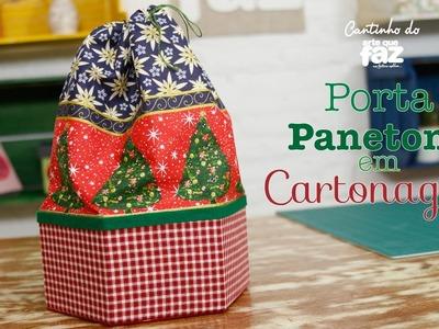 DIY - Natal - Porta Panetone em Cartonagem (Ana Santiago)
