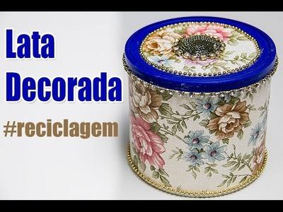 Passo a passo Lata Decorada - Artesanato - Renata Eleotério
