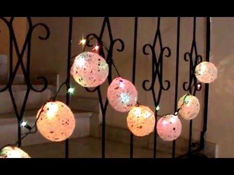 Artesanato: Bolas de natal feitas com linha de crochet ou barbante