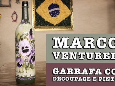 DIY - Garrafa com découpage e pintura (Marcco Venturelli)