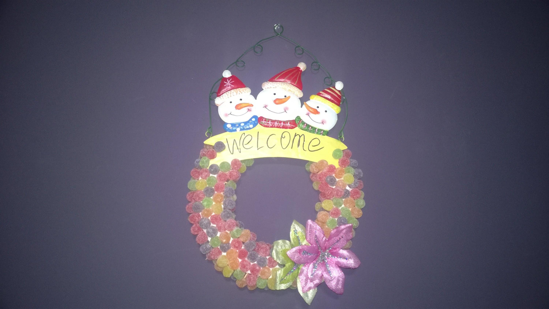 DIY Guirlanda de jujubas - Candy Christmas!!!!