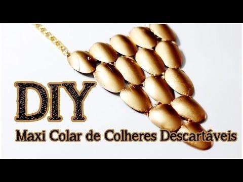 DIY: Maxi Colar de Colheres Descartáveis | Faça seu próprio Maxi Colar