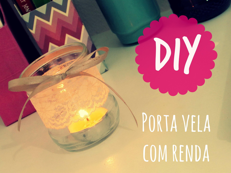 DIY - Porta vela