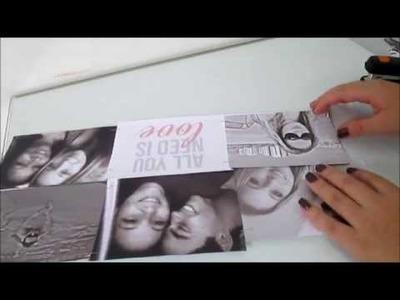 D.I.Y: Mural de fotos preto e branco (fácil) | Decoração de quarto | room tour decor