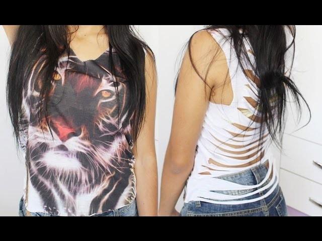 DIY | Faça você mesmo: Blusa customizada