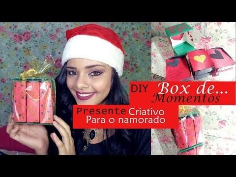 DIY: BOX DE MOMENTOS || Presente para namorado NATAL