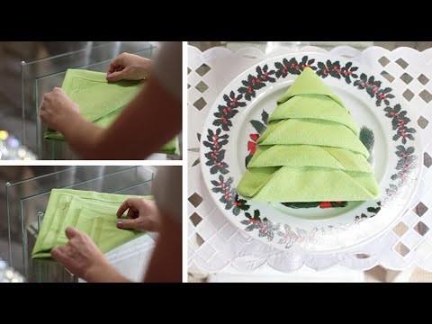 DIY: Decorando a mesa de Natal - Árvore de guardanapo
