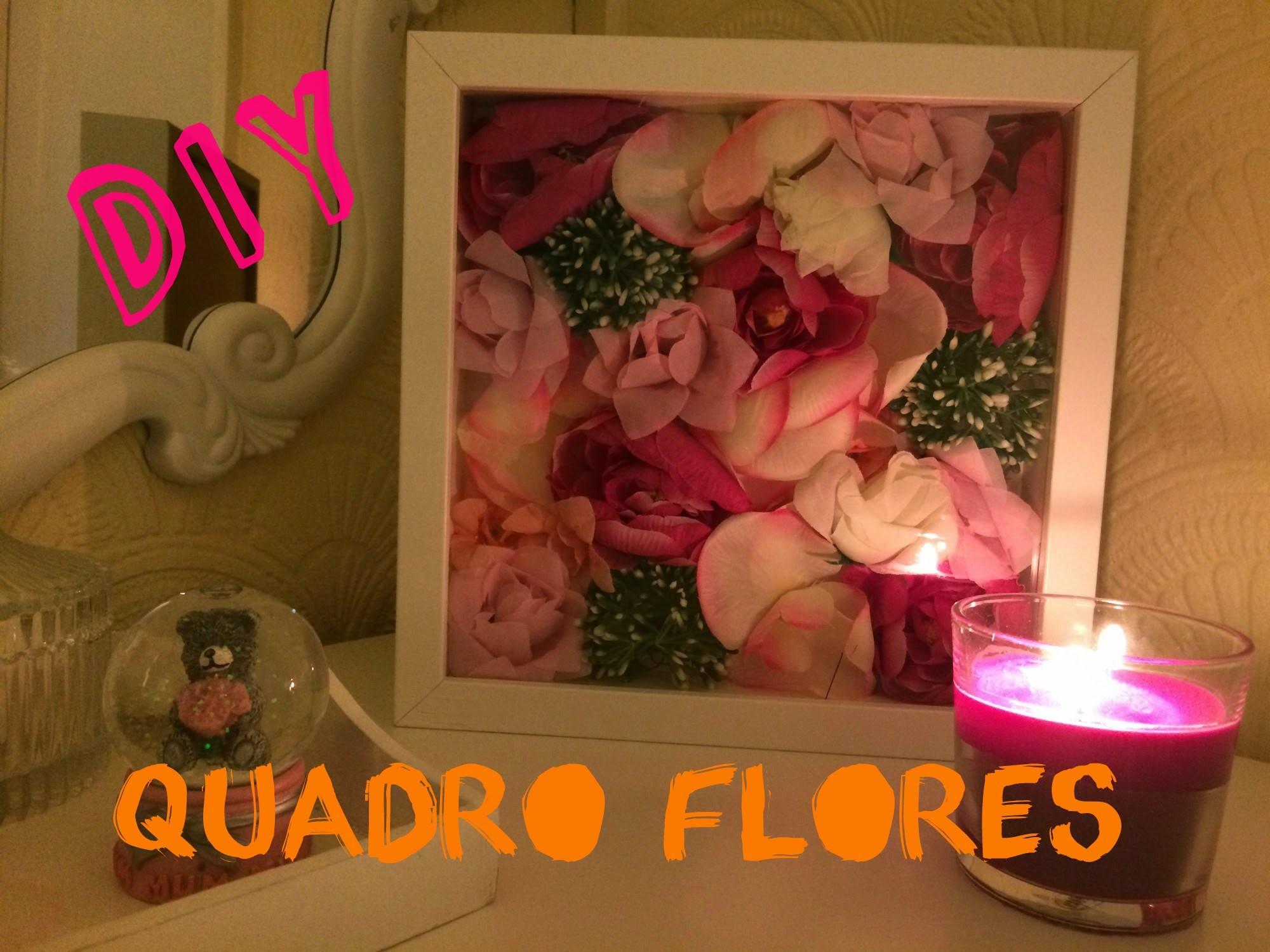 DIY QUADRO DE FLORES