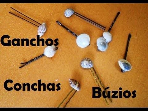 Tutorial, Ganchos com Búzios e Conchas