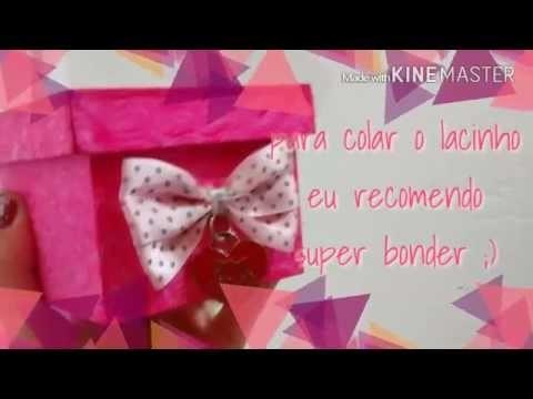 DIY - Porta jóias rosa - aprenda a fazer em 3 mnts