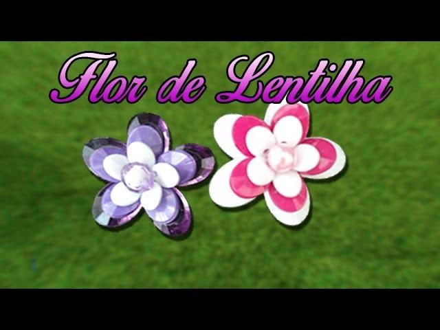 Flor de lentilha   DIY - Passo a Passo