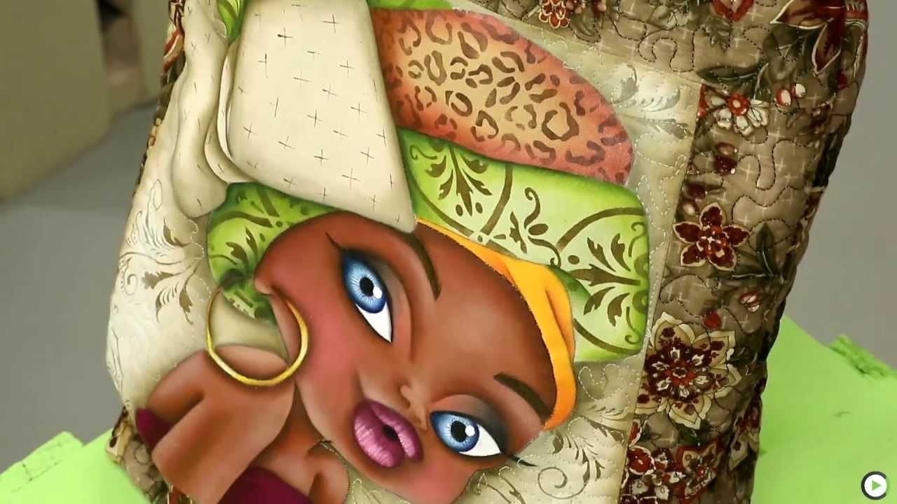 Canal do Artesanato - Pintura de Boneca em Tecido