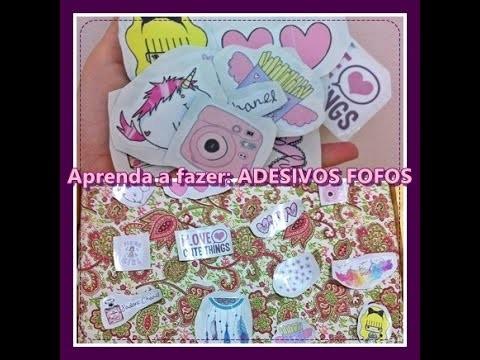 DIY: COMO FAZER ADESIVOS !!!. How to make ♥